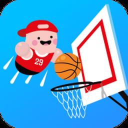卡通划线篮球