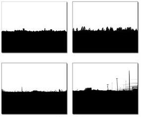 城市郊區天際線剪影效果PS筆刷
