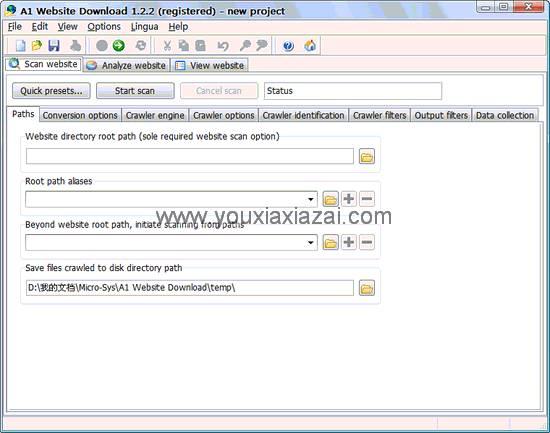 离线整站下载器 Micro-Sys A1 Website Download