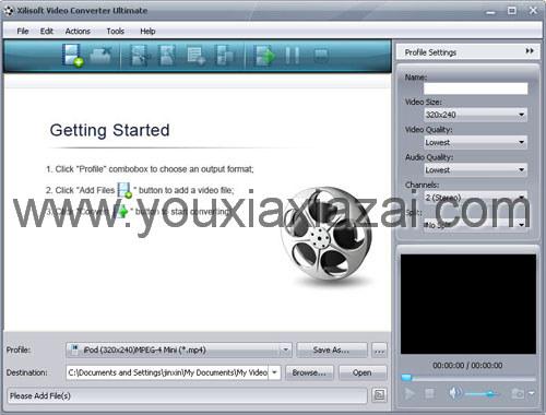 從視頻中提取音頻的軟件(Xilisoft Video Converter)
