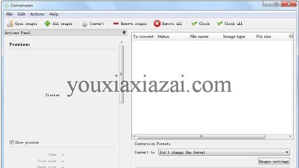 Converseen中文版下载 图片批量转换软件