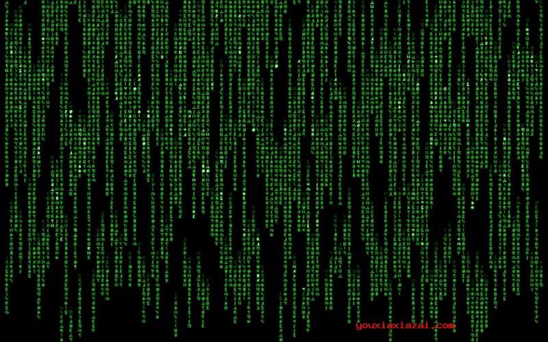 黑客帝國矩陣數字雨屏保